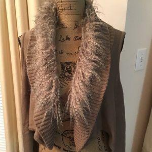Adorable Sweater Project Faux Fur Accented Vest
